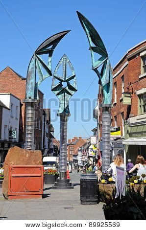 Darwin Gate Sculpture, Shrewsbury.