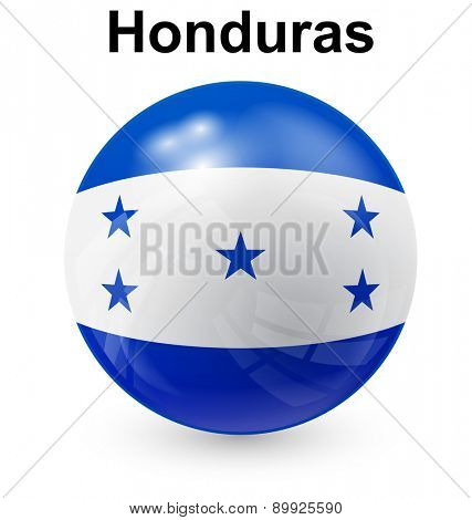 honduras official flag, button ball