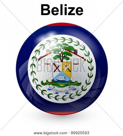 belize official flag, button ball