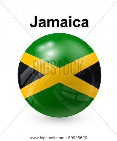 jamaica official state button ball flag