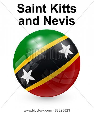 saint kitts and nevis official state button ball flag