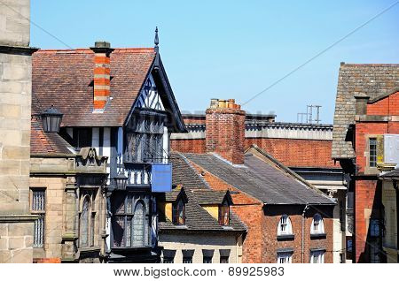 Castle Gates buildings, Shrewsbury.
