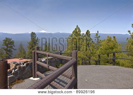 Top Of Lava Butte Viewpoint Oregon.