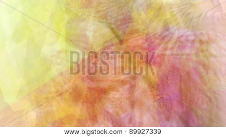 Abstract Vibrant Floral Psychedelic Background
