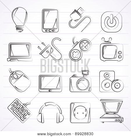 Electronic Devices objects icons