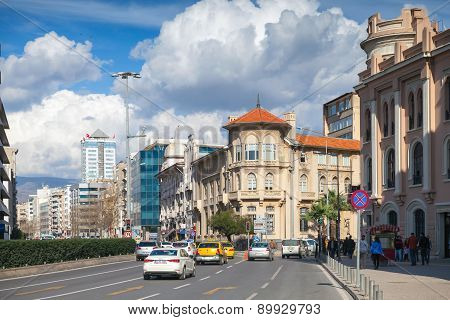 Cumhuriyet Blv, Street View With Building Facades