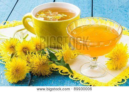 Dandelions, Tea And Jam Of Dandelions