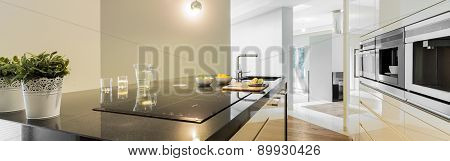 Countertops In Designed Kitchen