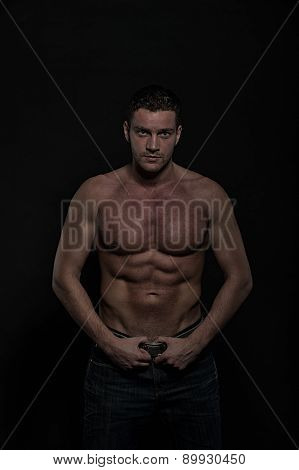 Glamour Young Muscular Athletic Man