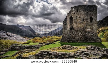 Dolbadarn Castle in Llanberis Snowdonia built in the 13th Century