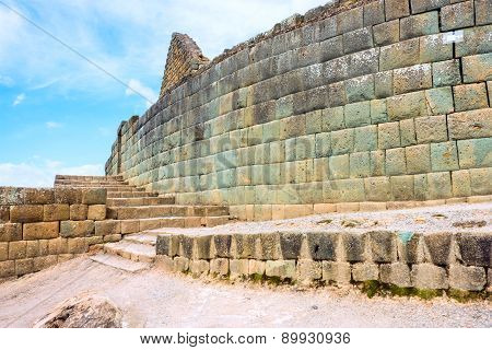 Ingapirca, Largest Known Inca Ruins In Ecuador.
