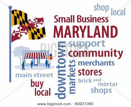 Small Business Maryland, The Old Line State Flag