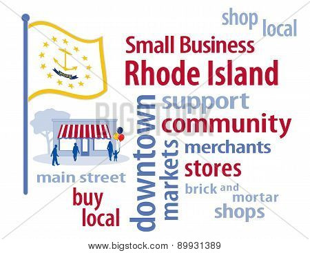 Small Business Rhode Island, The Ocean State Flag