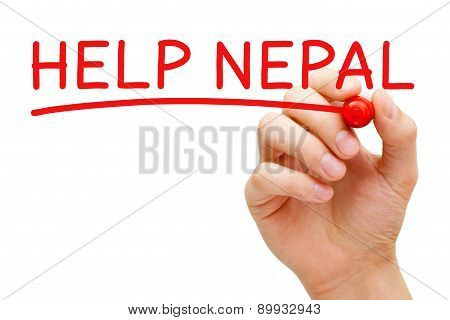 Help Nepal Red Marker