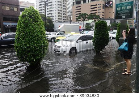 Heavy Downpour Floods Bangkok