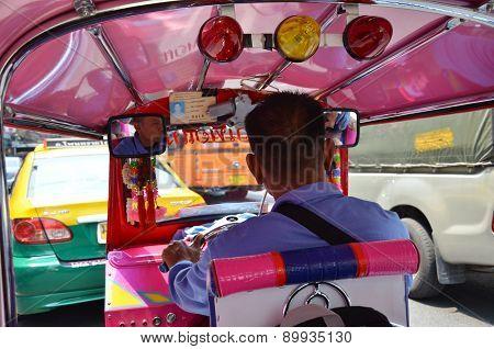 Inside A Tuk Tuk Vehicle