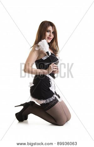 Sexy Young Pinup Maid