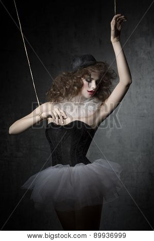 Woman  Like Gothic Marionette Dancer