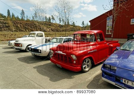 Exhibition Of Old American Cars