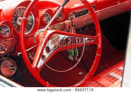 Interior Chevrolet In Red