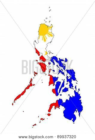 Philippines Flag Map