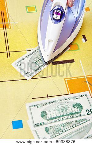 Ironing Dollars Banknote