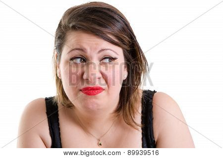 Expressive Woman Showing Revulsion And Aversion