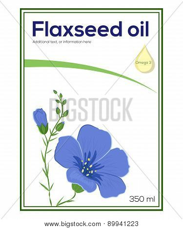 Flaxeed oil label template, sticker