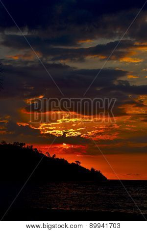 Sunset  Peace And Coastline In Madagascar Nosy Be