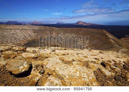 Vulcanic Timanfaya Summer In Los Volcanes Lanzarote Spain
