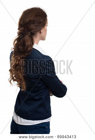Business Woman From The Back