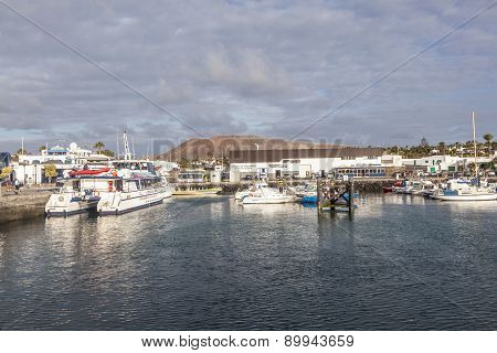 Boats Lying In The Harbor