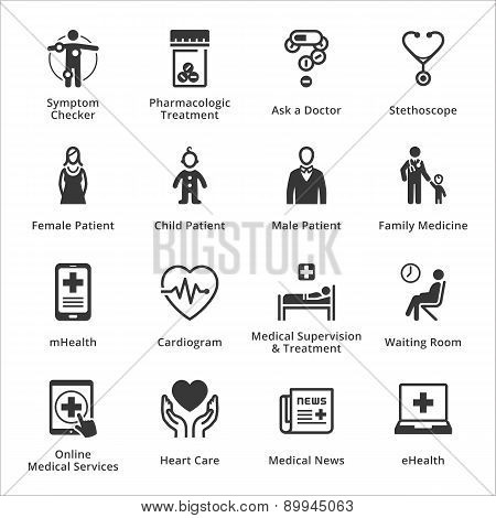 Medical & Health Care Icons - Set 2