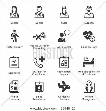 Medical & Health Care Icons Set 2 - Services