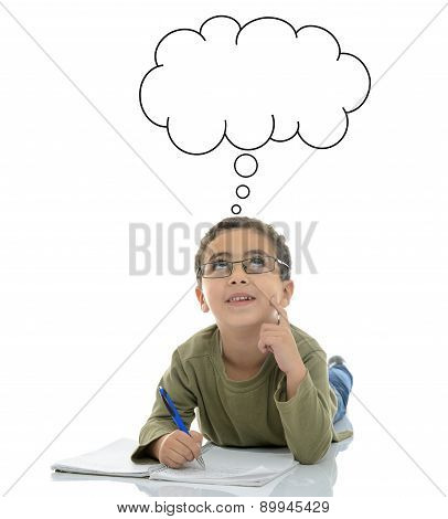 Young Schoolboy Searching For Answer
