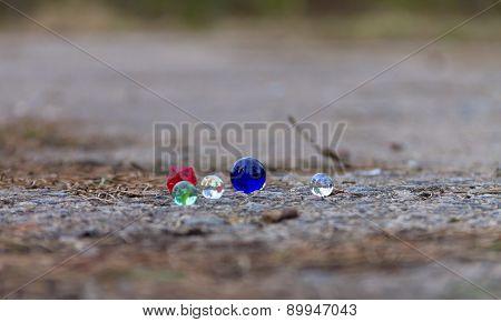 Colored Glass Balls