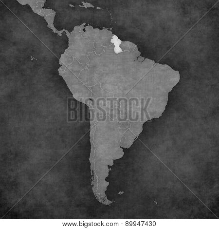 Map Of South America - Guyana