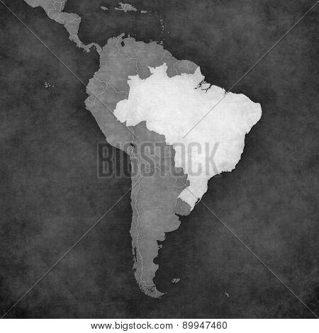Map Of South America - Brazil