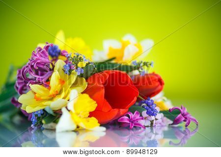 Beautiful Bouquet Of Spring Flowers,
