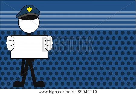 police man pictogram copyspace background