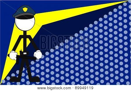 police man pictogram background
