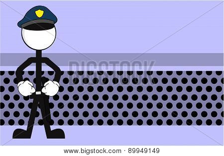 police man pictogram cartoon background
