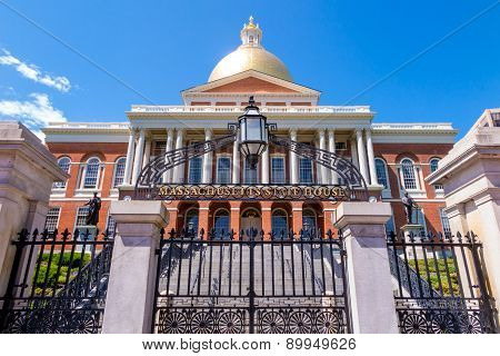 The Massachusetts State House In Boston.