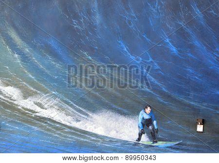 Mural surfer
