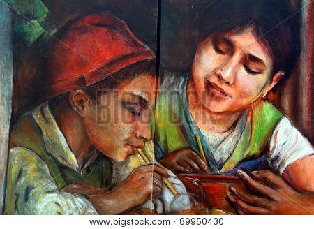 Mural italien children