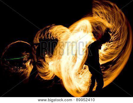 Orange Flames Gasoline Dance