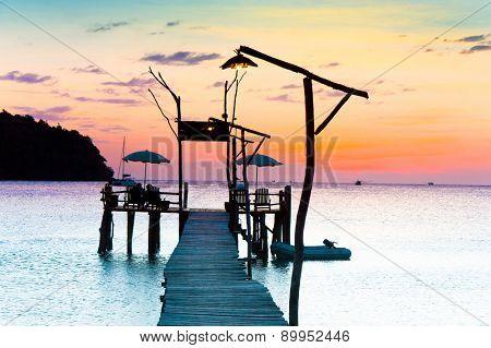 Evening Meditation Nightfall by the Sea