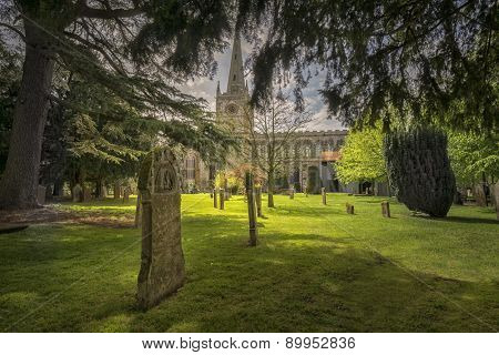 Graveyard in Stratford upon Avon,England