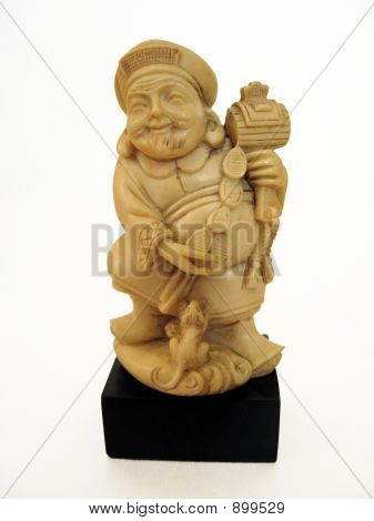 Chinese Prosperity Figure In Ivory
