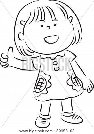 little girl say: good